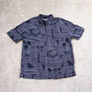 Batik Bay Button Up Hawaiian Shirt Men's XL Tall G